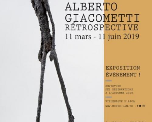 Alberto Giacometti : la retrospective du 13 Mars au 11 Juin 2019 au Lam